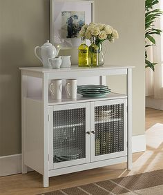 Cabinet with chicken wire instead of glass
