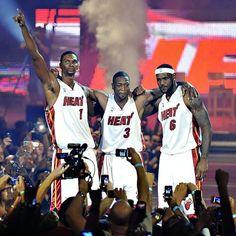 Yes We Did: Chris Bosh, Dwyane Wade, & LeBron James