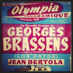 Expo G. Brassens à Manderen (57) #affiche #poster #vintage #retro #france #color #colors #couleur #couleurs #concert #olympia #paris #typography #typographie #graphicdesign #ig #iger #iphonography #iphoneography #igmetz #statigram #phoneography #50s