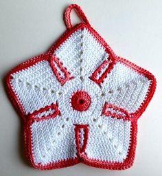 Crochet Kitchen, Crochet Home, Cute Crochet, Beautiful Crochet, Crochet Mandala, Crochet Motif, Crochet Doilies, Crochet Flowers, Crochet Potholder Patterns