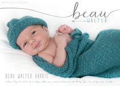 BIRTH ANNOUNCEMENT  Modern Simple Design  Baby by babybaloo