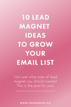 I'm super excited to announce that today's post is a sneak peek from my  upcoming ebook: Build Your List!It's coming soon at the end of the month,  so stay tuned for more details!   What is a lead magnet?  A lead magnet is a free offer of relevant value to your audience, in  exchange for contact information or an email address. This can also be  referred to as an opt-in incentive, signup offer, signup incentive or  content upgrade.  The purpose of a lead magnet is to persuade your website…