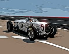 Instant download Auto Union Type C race by DigitalAutomotiveArt, $5.00