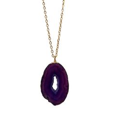 Geode Purple Agate Necklace