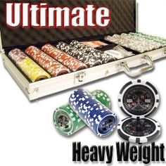 500 Ultimate Poker Chip Set with Free WPT Rule Book. 14 Gram Heavy Weighted Poker Chips. --- http://nuff.us/nu