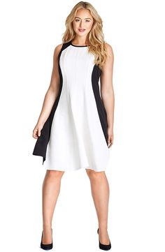 Lace & Seersucker Fit & Flare Dress (Plus Size) | Lace, Flare and ...