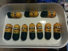 Create multiple types of minions with different eyes, smiles and hair.