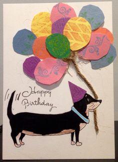 Dachshund Birthday Card | Designed With Nicole