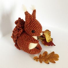 Soft, cuddly tummy and lovely bushy tail - Coco The Squirrel has a warm coat on ready for winter ahead!