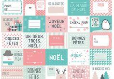 Etiquettes douceur By PrimaCliquez pour imprimer gratuitement notre planche d'étiquettes aux couleurs pastelspour un Noël tout en douceur.