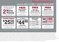 #January 2014 #Savings On #CarService At South Coast Toyota 1966 Harbor  Blvd,