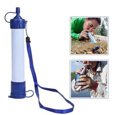 The Survival Water Filter Straw provides convenient, safe, clean outdoor drinking water from almost any water source. The internal filters can filter up to 1000 liters of contaminated water.