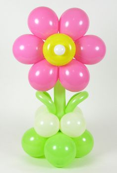 Balloon Twisting Online :: Alberoto style flowers - Decoration For Home Balloon Tree, Balloon Flowers, Balloon Centerpieces, Balloon Decorations, Rustic Signs, Wooden Signs, Start The Party, This Is Your Life, Event Planning Business