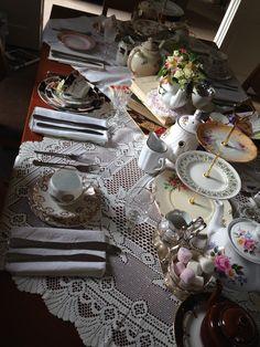 Vintage Afternoon Tea Party - The London Tea Party Company Cream Tea, Afternoon Tea Parties, Vintage Tea, Tea Party, Table Settings, London, Table Decorations, Pretty, Home Decor
