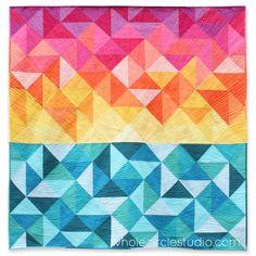 Sun Salutations quilt. Pattern available at shop.wholecirclestudio.com