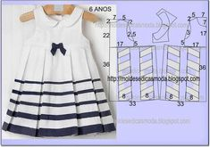 Trendy sewing for kids toddlers dress tutorials 21 ideas Baby Outfits, Little Dresses, Little Girl Dresses, Kids Outfits, Baby Dress Patterns, Baby Clothes Patterns, Sewing Patterns, Sewing For Kids, Baby Sewing