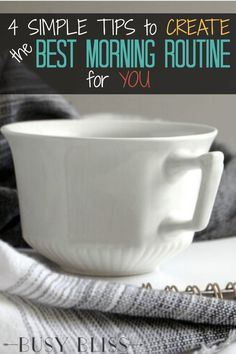 There is no one-size-fits-all when it comes to the best morning routine for busy women. Use these 4 simple tips for motivation to find the routine that works best for you. Make Money From Home, How To Make Money, Routine Planner, Evening Routine, Time Management Skills, Things To Come, Good Things, Mindful Living, Organization Hacks