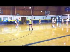 Simple Volleyball passing drill: Serve-receive full court