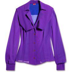 Vivienne Westwood Red Label Purple Georgette Blouse