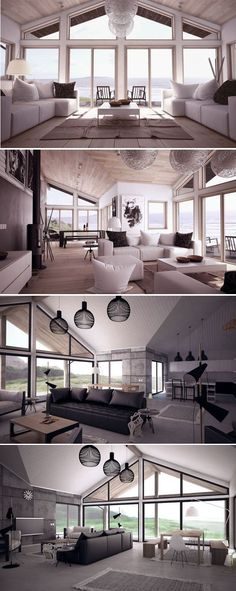 Living room, Modern Interior Design.