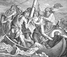 Bilder der Bibel - Jesus schläft während des Sturmes - Julius Schnorr von Carolsfeld