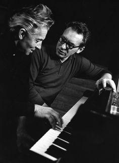 Géza Anda und Herbert von Karajan