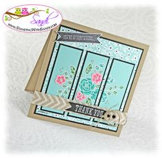 Triptych - Stampin Up So Very Grateful by SandiMac - Cards and Paper Crafts at Splitcoaststampers