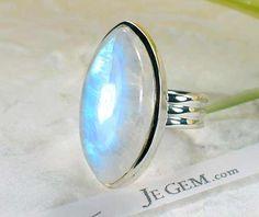 JeGem Designer Sterling Silver MoonstoneRing