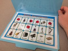"""Similar to """"Guess Who,"""" this game requires students to ask their partner questions about his or her instrument to try to figure which instrument has been selected! Elementary Music Game, Which Instrument?, classifying instruments, describing instruments, sorting instruments by family"""