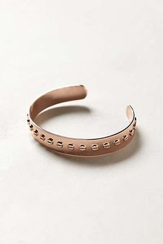 Anthropologie - Rosegold Machinist Cuff