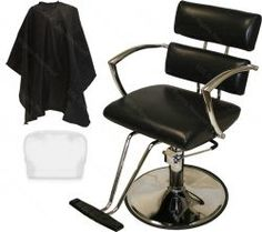 Chrome-Arm Hydraulic Styling Chair with FREE Deluxe Cutting Cape
