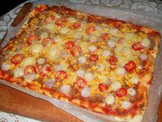 Pizza cu ton si porumb