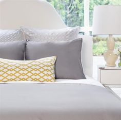 Bedroom inspiration and bedding decor | The Hayes Nova Grey | Crane and Canopy