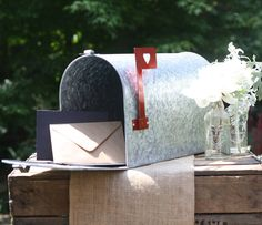 Cute for cards - american style wedding mailbox by the wedding of my dreams | notonthehighstreet.com