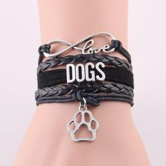 Dog Paw Bracelet  Get Now for FREE, just pay for shipping! https://finergearstore.com/collections/jewelry/products/love-dogs-bracelet