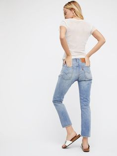 Frida Aasen || FP Levi's 505c High-Waist Cropped Jeans (Heat Stroke)