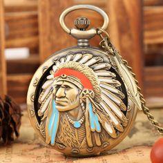 Quartz Pocket Watch, Color Quartz, Men Design, Watch Necklace, Fashion Boutique, Bronze, Watches, Chain, Pendant