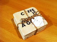 """""""Coffee is Always a Good Idea""""  beverage coasters by 5 Creations Handmade Decor"""