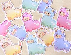 Adorable & Sweet Baby Alpaca Stickers Pack of 12 by BeagleCakesArt, $5.00