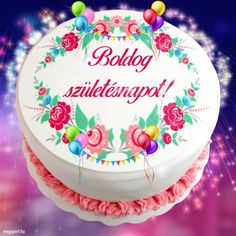 Boldog születésnapot! - Megaport Media Share Pictures, Happy Birthday, Birthday Cake, Name Day, Desserts, Crafts, Watch, Tulips, Amigurumi