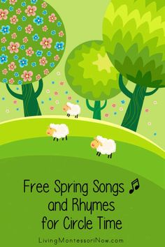 Free Spring Songs and Rhymes for Circle Time