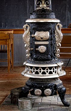 Beautiful cast iron stove