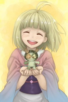 DAY 18 favorite supporting female character Shiemi Moriyama & Nii-chan i just like how they did the character and how she is in the anime from Blue Exorcist