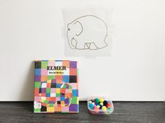 Elmer invitation to play - thanks to @simplylearning for this easy prep fun idea 🐘 see next post for details