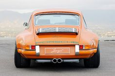 A Porsche 911 by Singer. Business up front, Party in the back!