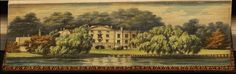 Alexander Pope's residence at Twickenham, Fore-edge book painting.  This is painted on the edge of the pages.