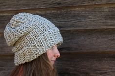 SILENCE - Slouchy Textured Unisex Hat Knitting Pattern