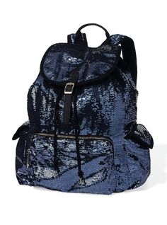 cute back to school backpacks teens victoria secret | NEW Victoria Secret Pink Black Sparkly Sequin Backpack Limited Edition ...