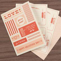 Carta moderna para un restaurante el día de San Valentín
