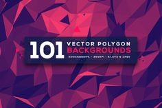 Check out 101 Vector Polygon Backgrounds V.3 by graphicon on Creative Market